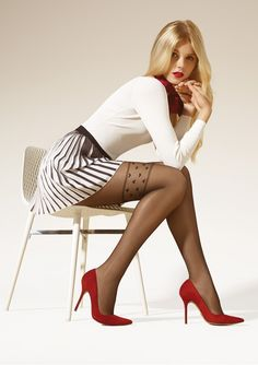 """brawnjohnson: …gorgeous blonde with sexy legs in sexy unique pantyhose! """" shining black stockings that fit on the thighs, my favorite Beautiful Legs, Beautiful Women, Pantyhosed Legs, Mini Robes, Black Pantyhose, Pantyhose Fashion, Nylon Stockings, Black Stockings, Sexy Legs"""