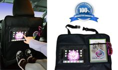 Car Seat Back Protector Covers Kick Mat Vehicles Black Play Tablet Kids 2 Pack #SolutionsSolved