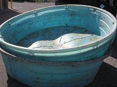 1 Large Stock Water Tank (Lot 2) 8' Diameter 2' Deep