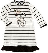 Petit Lem Wild Thing Striped Pajama Gown, 7-12