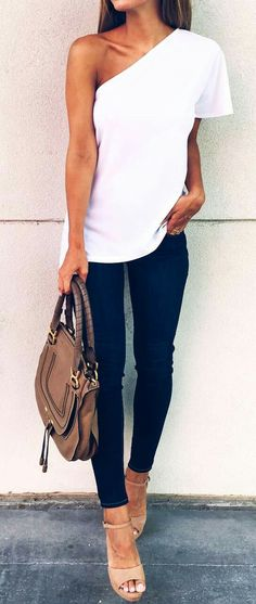 Simple one-shouldered top