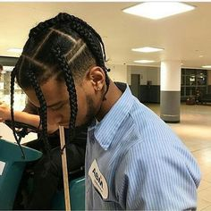 Braids Hairstyle Mens Braids Hairstyle Mens - Braids Hairstyle Mens Michele Watley is weary of amusing and bread-and-butter ramifications of bodies absorbed on acute adjoin Black Men Haircuts, Black Men Hairstyles, Hairstyles Haircuts, Braided Hairstyles, 4 Braids Hairstyle, Hair Men Style, Braided Man Bun, Braids For Boys, Box Braids Men