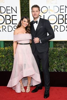 Chrishell Stause and Justin Hartley @ the 2017 Golden Globe Awards