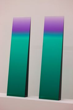 Tri-Color Gradient Window Wedge  Cast Polyester Resin  30 x 8 x 4