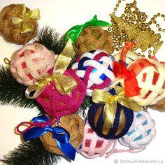 Купить Шар вязаный новогодний в интернет магазине на Ярмарке Мастеров