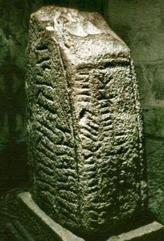 Irish Ogham stone ~ Ancient written language