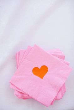 fun heart cocktail napkins photo by Jodi Miller via United With Love