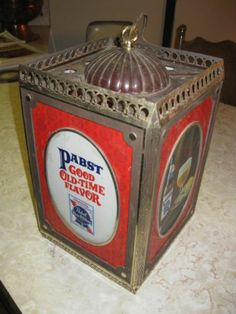 Pabst Blue Ribbon Beer Motion Lamp Sign Old Vtg Pub Light Victorian Gibson Girl | eBay Vintage Beer Signs, Pabst Blue Ribbon, Gibson Girl, Victorian, Tins, Ebay, Tin Cans