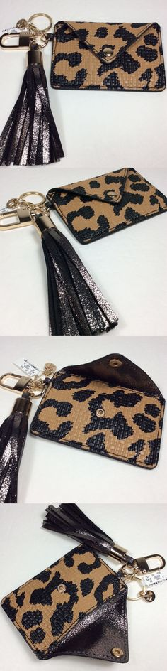 Key Chains Rings and Finders 45237: Neiman Marcus Women S Tassel Flap Card Case Charm Key Chain. Leopard.Nwt -> BUY IT NOW ONLY: $34 on eBay!