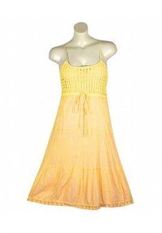 Yellow Cut Crochet Dress   Plus Size Dresses   OneStopPlus