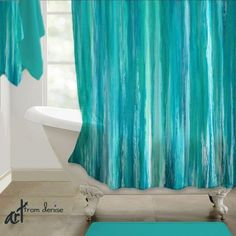 Strategy, tricks, furthermore manual in pursuance of getting the absolute best end result and also making the maximum use of Small Restroom Ideas Teal Bathroom Decor, Turquoise Bathroom, Teal Shower Curtains, Brick And Wood, Teal Fabric, Rustic Lamps, Rustic Bathrooms, Inspired Homes, Aqua Blue