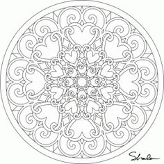 Get out those crayons, markers or pencils. Free heart mandala to color from ccjfan.com. They have it available in several sizes for you to download.