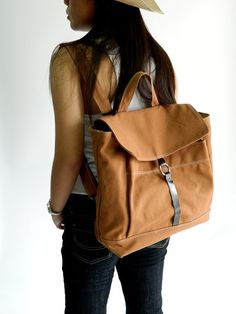 New Year SALE Tanya in Cognac // Backpack / by christystudio