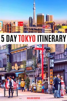 The perfect 5 day Tokyo itinerary for first timers Overwhelmed with your Tokyo planning? This post covers a full 5 day Tokyo itinerary that's ideal for families and first . Japan Travel Guide, Tokyo Travel, Asia Travel, Travel Guides, Travel Advice, Tokyo With Kids, Day Trips From Tokyo, Japanese Travel, Backpacking Asia