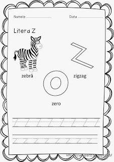 Clasa pregatitoare: Fise litere