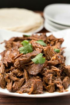 Easy recipe for sweet and spicy slow cooker beef.   #crockpot #superbowl #recipe