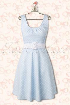 Vixen  Blue 60s Polkadot Dress 105 39 15258 20150331 0001Haakje