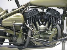 """Well MiniArt have combined their excellent WLA Motorbike with this new GI who looks like he is out of fuel or luck – This new """"in Progre. Harley Davidson Photos, Harley Davidson Wla, Harley Davidson Motorcycles, Vintage Motorcycles, Cars And Motorcycles, Cycle Pictures, The Modelling News, Military Memes, Old Technology"""