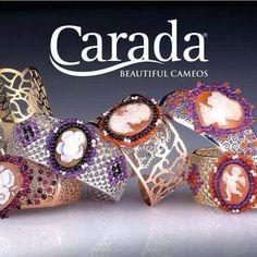 Bracelet with shell cameo handmade and precious gems.
