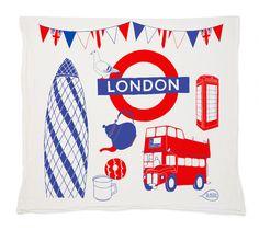 London Tea Towel by claudiagpearson on Etsy