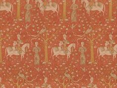 Brunschwig & Fils RUBAIYAT LINEN & COTTON PRINT PAPRIKA BR-79679.179 - Brunschwig & Fils - Bethpage, NY, BR-79679.179,Brunschwig & Fils,Print,Red/Burgundy,S,Up The Bolt,Figurative,Multipurpose,France,Yes,Brunschwig & Fils,No,RUBAIYAT LINEN & COTTON PRINT PAPRIKA