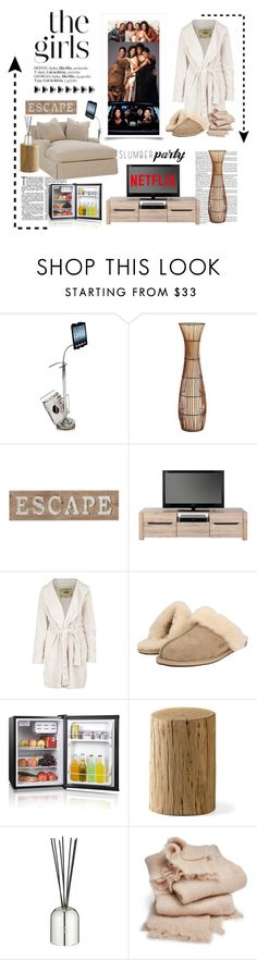 """The Girls. ... Slumber Party"" by conch-lady ❤ liked on Polyvore featuring interior, interiors, interior design, home, home decor, interior decorating, Furinno, Pier 1 Imports, UGG Australia and UGG"