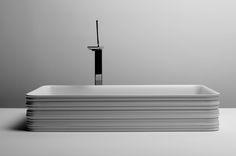 Collezione Trace design by Gianni Veneziano e Luciana Di Virgilio   V+T #VenezianoTeam #Valdama #ceramics #design #madeinItaly #bathroom