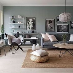 ideas living room colors beige for 2019 Home Living Room, Interior Design Living Room, Living Room Designs, Studio Interior, Nordic Living Room, Green Interior Design, Interior Shop, Interior Stairs, Interior Colors