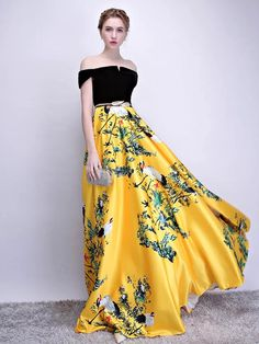 Color : Yellow Embellishment : Sash Fabric : Velour, Satin Fabric Occasion : Prom, Wedding Party The post Velvet Satin Floor Length Evening Party Dress appeared first on Power Day Sale. Vestido Strapless, Strapless Dress Formal, Formal Dresses, Prom Outfits, Homecoming Dresses, Bridesmaid Dresses, Dress Prom, Party Gowns, Wedding Party Dresses
