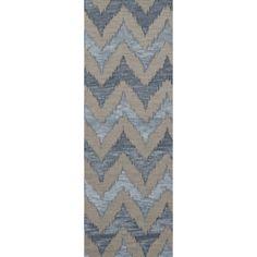 """Dalyn Rug Co. Bella Beige/Blue Area Rug Rug Size: Runner 2'6"""" x 12'"""