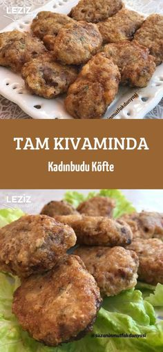Tam Kıvamında Kadınbudu Köfte - Call Tutorial and Ideas Healthy Eating Tips, Healthy Snacks, Turkish Recipes, Food Menu, Appetizers For Party, Meat Recipes, Easy Meals, Food And Drink, Yummy Food