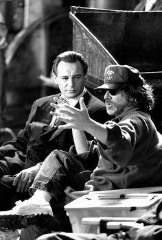 Spielberg directs Liam Neeson in Schindler's List