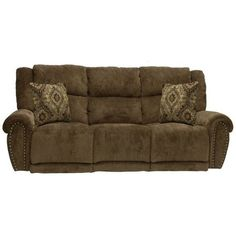 Catnapper - Stafford Power Lay Flat Reclining Sofa in Tobacco/Chocolate - Pallet Planter Box, Planter Boxes, Traditional Furniture, Reclining Sofa, Sofas, Couches, New Furniture, Recliner, Comfy