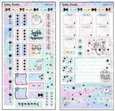 Printable Hobonichi Weeks Sticker Kit Hobonichi Weekly Kit Hobonichi Techno Hobo weeks Hobo Kit Hobonichi Weeks Kit