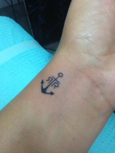 Anchor tattoo with kids initials!