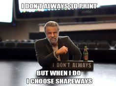 I don't always meme 3D Print by Soulstice #3Dprint #FullColorSandstone #Toys #meme #Idontalways