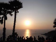 Sunset at Promthep Cape. Very popular sunset view location in Southern Phuket.   #Thailand #Phuket #Golf #PhuketGolfing #Vacation #Beaches #Resorts #PhuketThailand #Patong #PatongPhuket