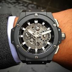 Black Ceramic Hublot King Power Unico - @_thefashiondaily Photo by @roxjewellery by _thewatchgallery_