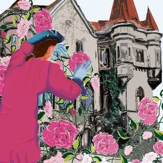 'Dornrößchen Schloß und Prinz' von Birgit Schlegel bei artflakes.com als Poster oder Kunstdruck $21.56