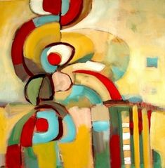 "Garden Dance by Filomena Booth Acrylic ~ 24"" x 24"""