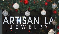 Season Greetings and a Happy New Year! from all of us at Artisan LA Jewelry We are open until Dec everyday from 12 - Christmas Wreaths, Christmas Bulbs, Artisan Jewelry, Bridal Jewelry, Jewelry Making, Seasons, Holiday Decor, Happy, Fun