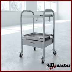 3D Max Anesthesia Cart Drawer - 3D Model