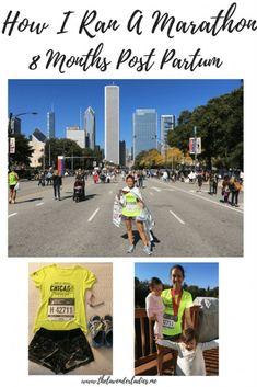 How I Ran A Marathon 8 Months Postpartum #runningmom #marathon #postpartumrunning #postpartumworkout