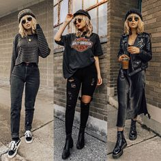 Source by Fashion outfits Date Outfits, Edgy Outfits, Grunge Outfits, Grunge Fashion, Cute Casual Outfits, Fashion Outfits, Womens Fashion, Cute All Black Outfits, All Black Outfit Casual