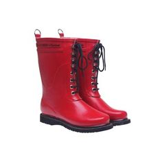 Who says Wellingtons can't be cool? - next time I would like mine to be red! I have them in black with white laces and they are great :-)