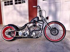 Image may contain: motorcycle Bobber Bikes, Bobber Motorcycle, Moto Bike, Custom Bobber, Custom Motorcycles, Custom Bikes, Bobber Style, Bike Style, Harley Bikes