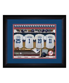 Love this New York Yankees Locker Room Personalized Framed Print on #zulily! #zulilyfinds