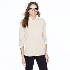 collection cashmere pocket sweater via JCrew
