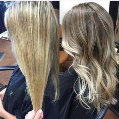 "Gefällt 2,032 Mal, 33 Kommentare - Mane Interest (@maneinterest) auf Instagram: ""Before & After: Overhighlighted Blonde to New and Natural. Color by @_lovelovelife_ #hair…"""