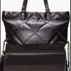 Lanvin Black Dear Danae Leather Cabas Bag Nwt